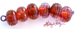peach_berry_ribbed_Donut_glassbeadset