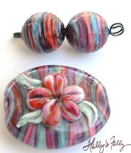 stripes glass bead sets
