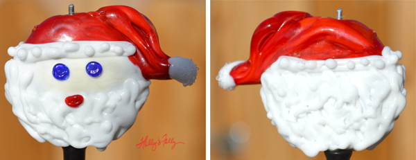 Santa xl glass bead focal