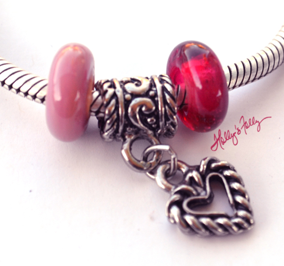 pink bhb and heart for pandora