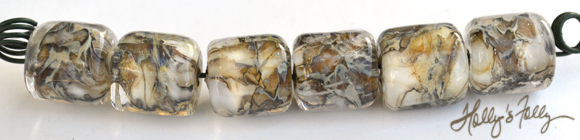 snakeskin barrels glass bead set