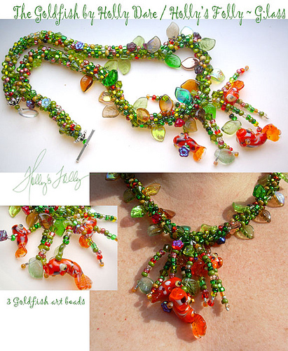 koi pond necklace by Holly's Folly